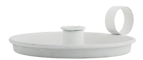 Świecznik Metalowy Biały Z Uchem IB LAURSEN (1)