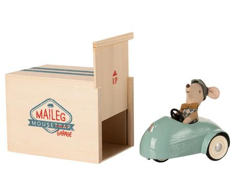 Myszka W Aucie Z Garażem Blue MAILEG (1)