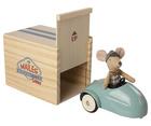 Myszka W Aucie Z Garażem Blue MAILEG (2)