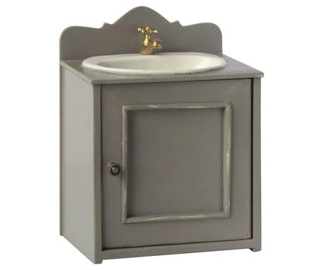 Szafka  Z Umywalką Do Łazienki Miniature Bathroom Sink MAILEG (1)