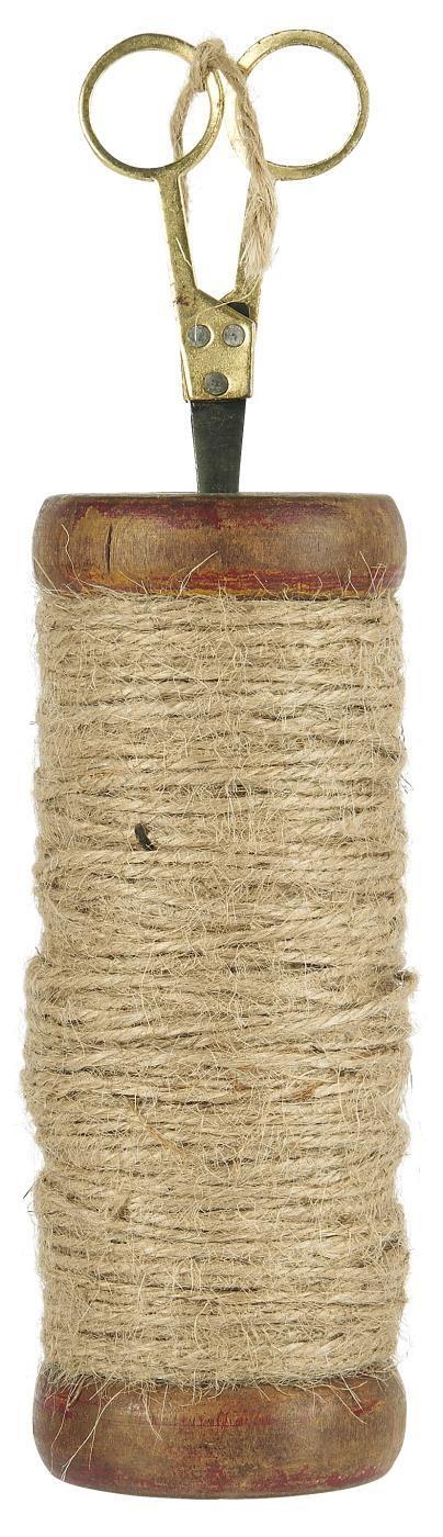 Drewniana Szpula Wysoka Z Jutowym Sznurkiem I Nożyczkami Unique IB LAURSEN (1)