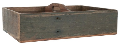 Drewniana skrzynka z 4 Przegródkami i Uchwutem Unique IB LAURSEN (1)