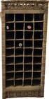 Rustykalny Regał Na Wino Hampton Winiarka Z Rattanu  (5)