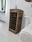 Rustykalny Regał Na Wino Hampton Winiarka Z Rattanu  (4)