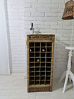 Rustykalny Regał Na Wino Hampton Winiarka Z Rattanu  (2)