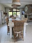 Rustykalne Krzesło Hampton Z Rattanu  (2)