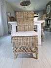 Rustykalne Krzesło Hampton Z Rattanu  (4)
