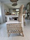 Rustykalne Krzesło Hampton Z Rattanu  (8)