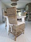 Rustykalne Krzesło Hampton Z Rattanu  (3)