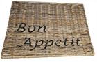 Podkładka Rustykalna Hampton Rattan Pod Talerz Z Napisem Bon Appetit (2)