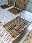 Podkładka Rustykalna Hampton Rattan Pod Talerz Z Napisem Bon Appetit (6)