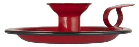 Świecznik Metalowy Emaliowany RED  IB LAURSEN (1)