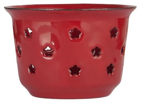 Świecznik Lampion Metalowy Emaliowany RED  IB LAURSEN (1)