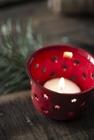 Świecznik Lampion Metalowy Emaliowany RED  IB LAURSEN (4)