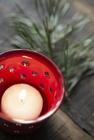 Świecznik Lampion Metalowy Emaliowany RED  IB LAURSEN (3)