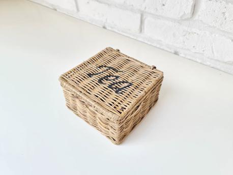 Rattanowy Pojemnik Hampton Na Herbatę Tea Box  (1)